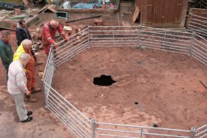 start of sinkhole