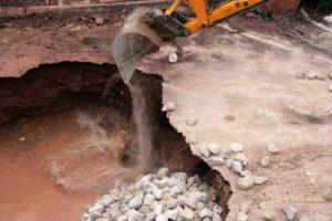 Filling sinkhole