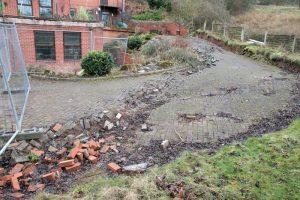 Driveway Landslide Damage