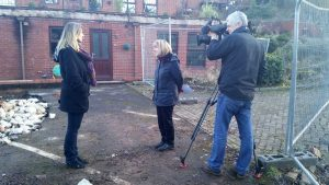 Helen with BBC Midlands TV
