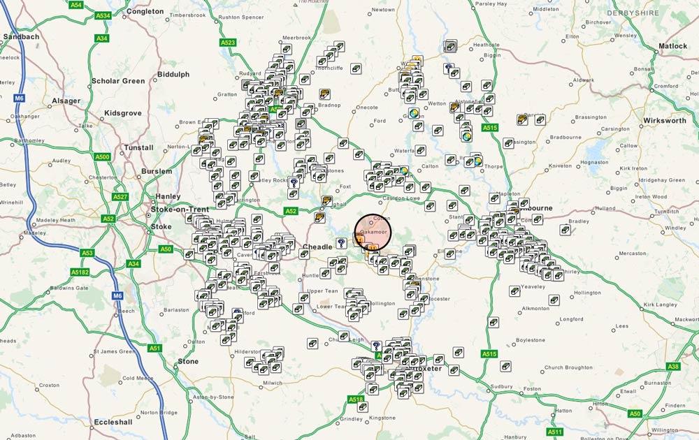 Geocaching location map