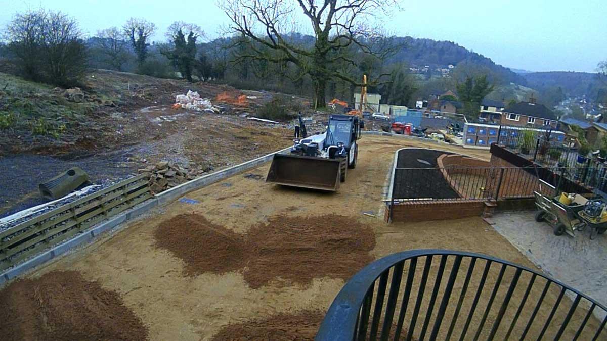 Upper drive paving