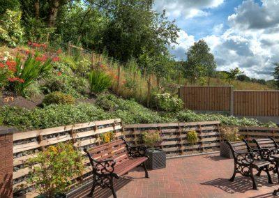 Guest sitting area garden