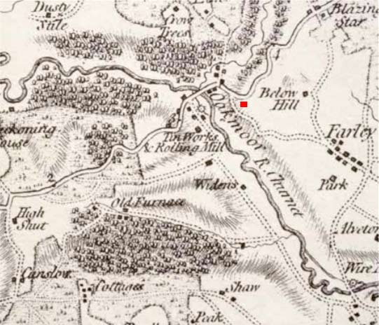 1775 Map of Oakamoor