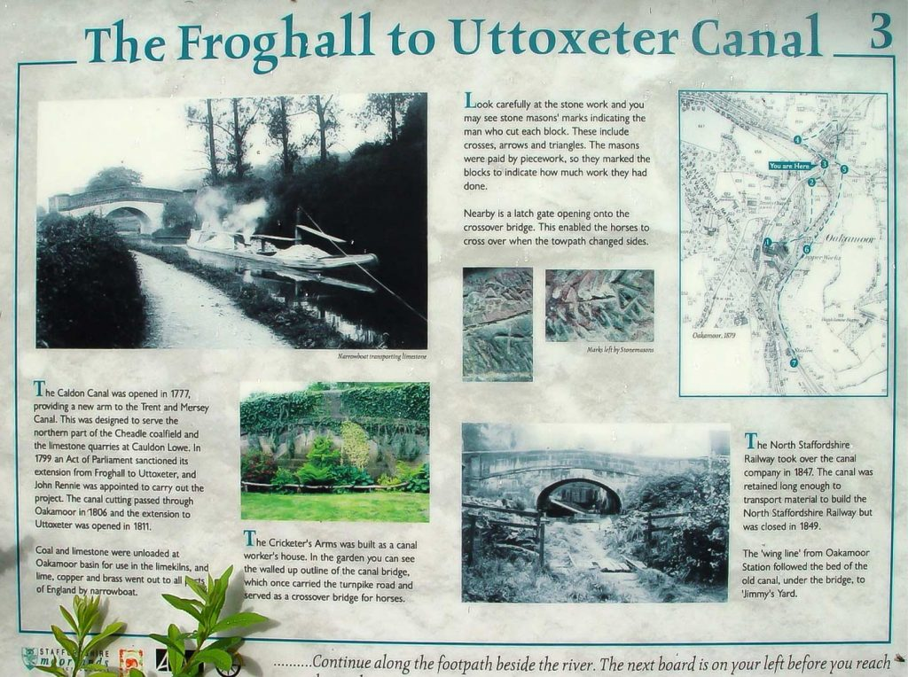 Oakamoor Canal Information Board