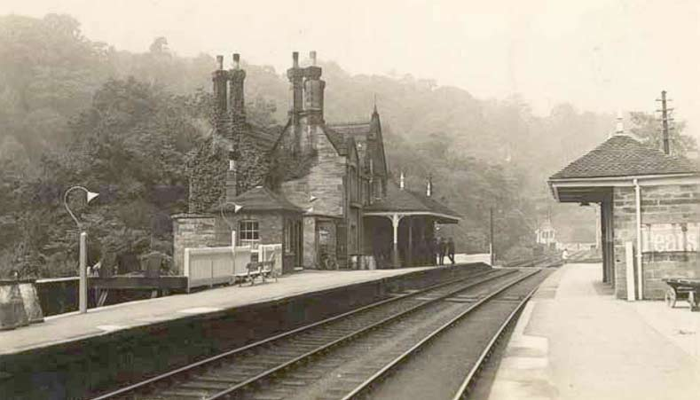 The Churnet Valley Railway and Oakamoor Station in 1910
